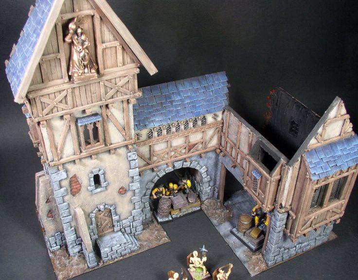 Warp Lib.: Modelisme : construire un manoir fortifie. Partie 7 - fin peinture exterieure