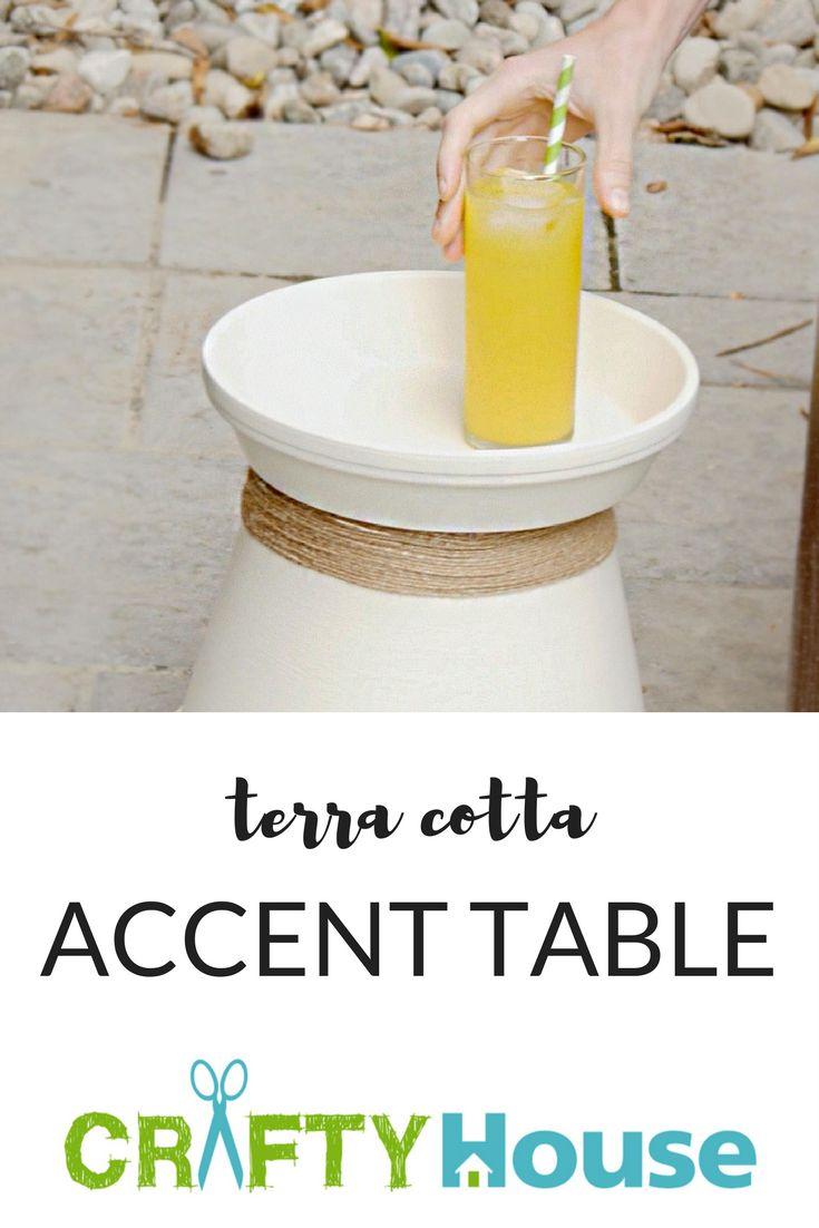 Terra Cotta Accent Table