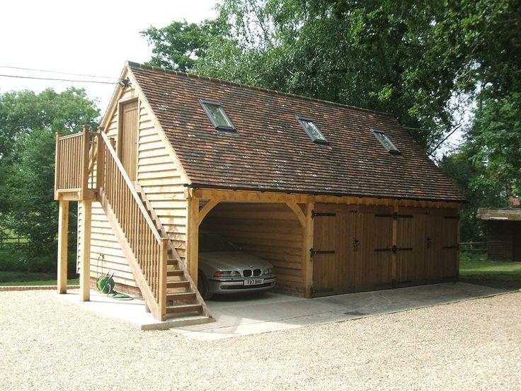Upper Floored Buildings Timber garage, Timber frame garage