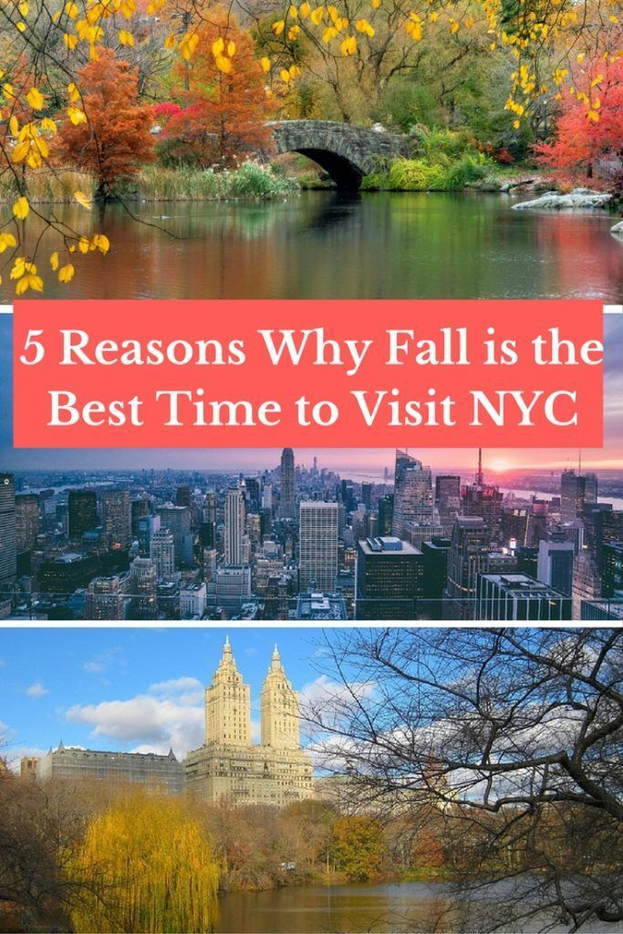 5 Reasons Why Fall is the Best Time to Visit NYC- See why places like Central Park and NYC things to do like seeing Times Square, going to a Broadway show, or visiting the Empire State Building are just better in the fall!