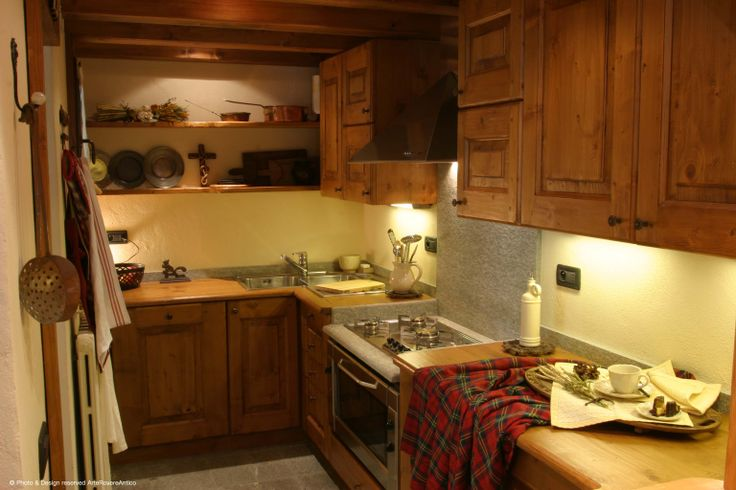 || Arte Rovere Antico - Photo by Duilio Beltramone for Sgsm.it || Casa Mont D'Arbois -  Megeve - France - Wood Interior Design - Mountain House - Kitchen