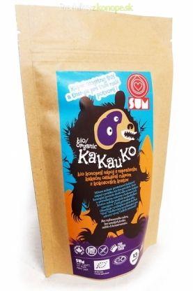 Konopné BIO KaKauKo SUM 195g. Konopný proteínový nápoj v prášku s kakaom a cukrom z kokosových kvetov. Vynikajúci ako pre deti tak aj pre dospelých. Dopĺňa potrebnú energiu, výživné látky a má taktiež vynikajúcu chuť. Začnite svoj deň lahodným, osviežujúcim nápojom!