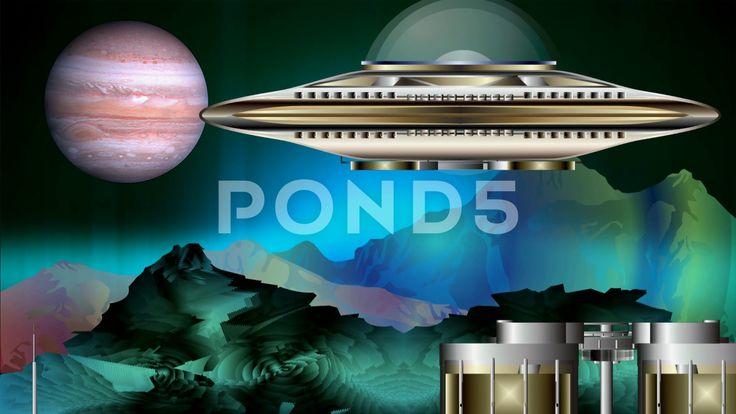 The spaceport distant worlds - Стоковое видео   by Aleksmaster