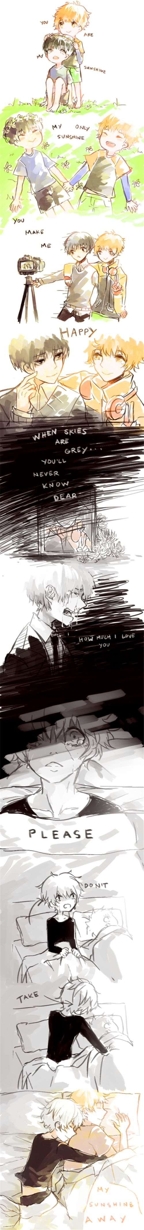 Hide and Kaneki. ^^<<I HAD A MENTAL BREAK DOWN AT SCHOOL!!! THIS IS TOO DEPRESSING!!! <<<---- TT_TT