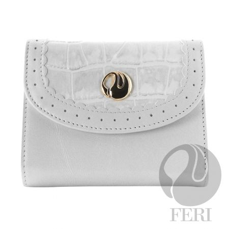 SWAN WALLET WITH FERI LOGO, made in beautiful Italian leather  (click on pic to go to my website)