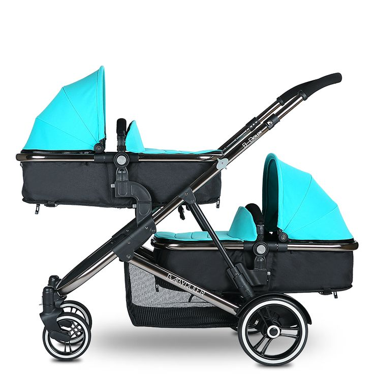 High Quality Aluminum Alloy Twin Baby Stroller Can Sit Lying Pram Twins Shockproof Folding Kinderwagen Baby Strollers