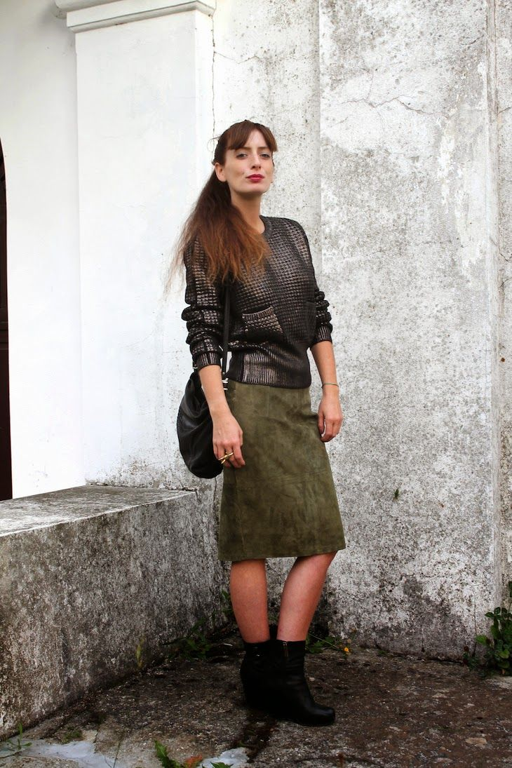 Military dark trend #golden black knit - magglioncino nero dorato gonna verde militare  #Doppiosegno, italian knit brands collections, fashion blogger made in italy total look, maglieria, winter trend, moda inverno 14-15, #maglieria #wintertrend the fashionamy blog, cool glam  knit  #dark #military #style #fashion #trend #outfit #blog #knit #fashionblog #fashionblogger #knitwear #skirt #vintage #fashion #glam #metallic #goldenknit the fashionamy blog, cool glam  knit