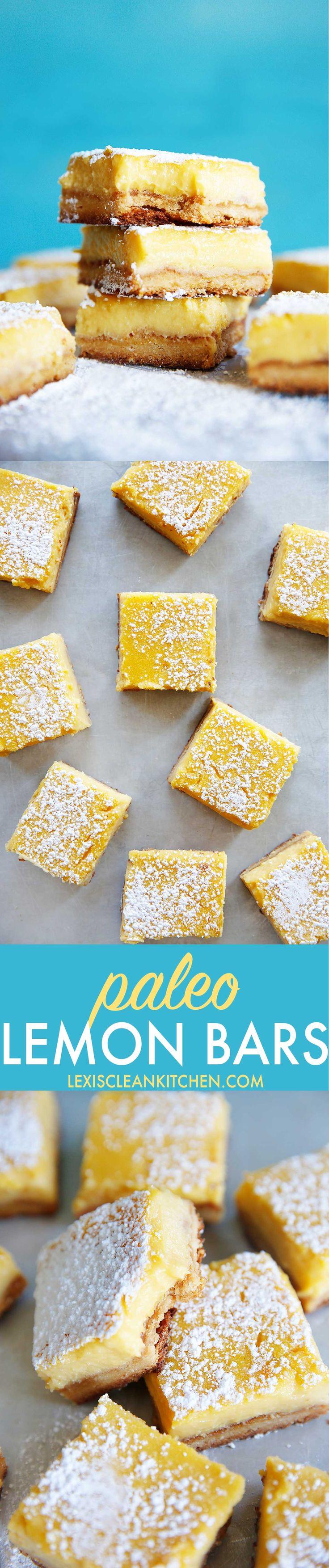 Lemon Bars {Paleo-friendly, grain-free, gluten-free} | Lexi's Clean Kitchen
