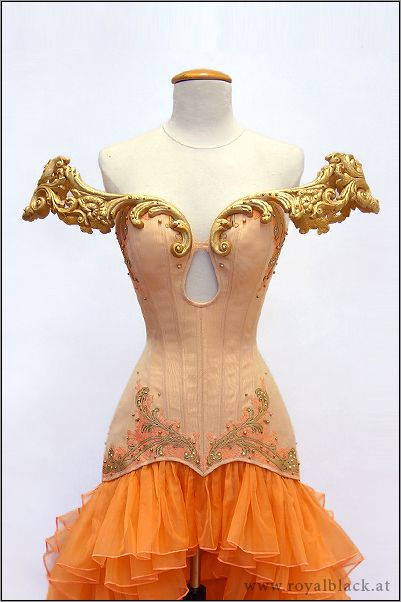 "Royal Black - Couture Corset Dress ""The Concubine"" 