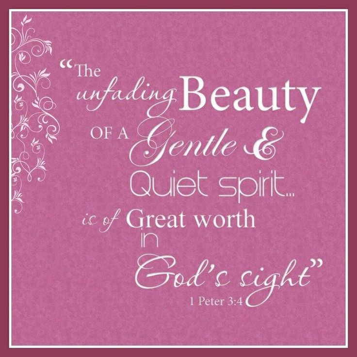 Image result for a gentle  and quiet spirit bible verse