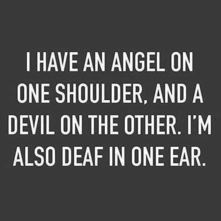 Angel And Devil On My Shoulder