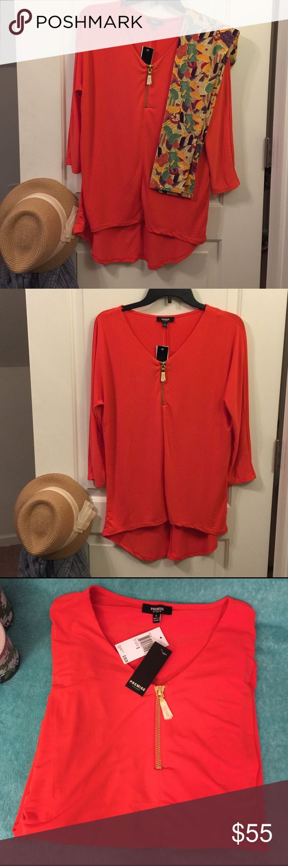 PREMISE Studio Tunic & LulaRoe Leggings Combo TOP - made in Vietnam📍NWT📍Chili Pepper Orange hi-lo tunic with 3/4 sleeves📍Stretchy material, 95% Polyester 5% Spandex📍Size Small.  LEGGINGS - made in China. Part of my Unicorn Vault Collection bought directly from various LulaRoe Consultants only. NWT, Hard-To-Find Gummy Bears 🐻 .    ***Sold as Combo or Individually   Combo Price:  $55.00 Top only:  $20.00 Leggings only:  $45.00  ❌ to Trades PREMISE Studio & LulaRoe Other