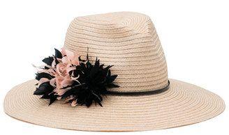 Eugenia Kim Hats Emmanuelle Floral Wide-Brim Fedora Hat Neutral #hat #womens