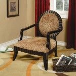 Coaster Furniture - Accent Chair with Decorative Carvings - 900415