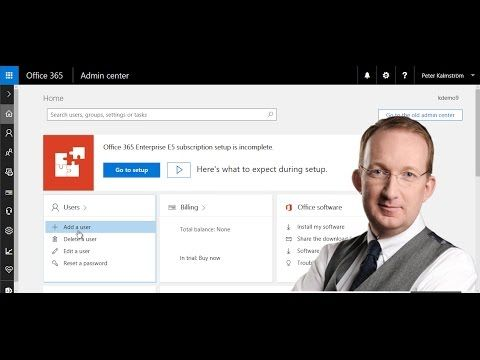 *Office 365 from Scratch - Add a User* In this demo in the Office 365 from Scratch series Peter Kalmström shows how to add a user to Office 365. Also refer to http://kalmstrom.com/Tips/Office-365-Course/Create-Users.htm