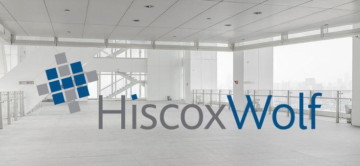 Logo design for HiscoxWolf, facilities management consultants.