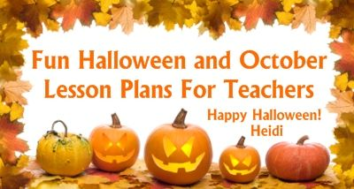 halloween lesson plan objectives