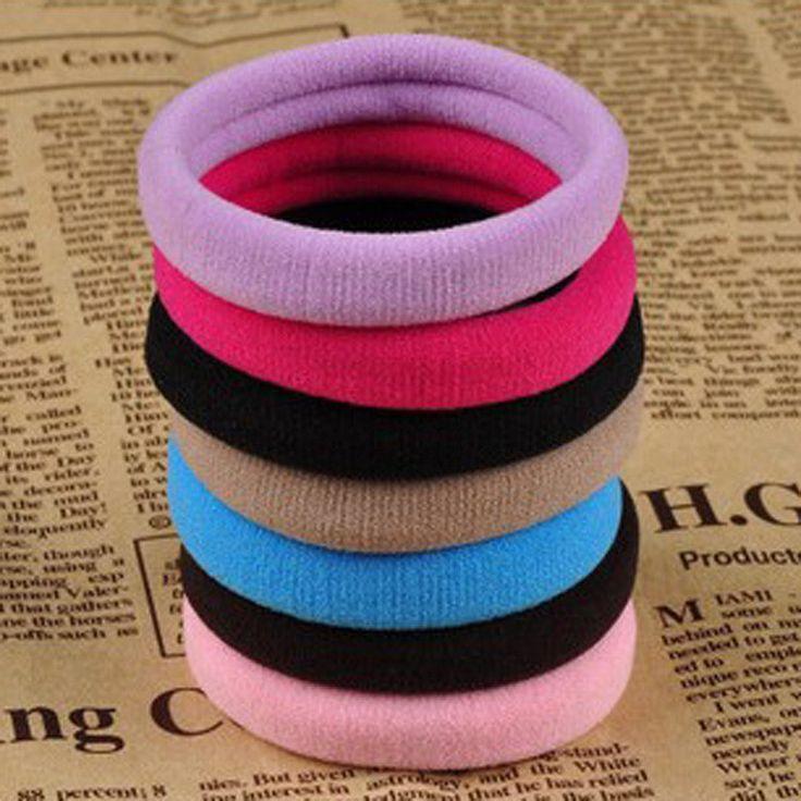 10 teile/los Mode-süßigkeit Farbige Haar-halter Hohe Qualität Gummibänder Haar-gummiband Accessoires Mädchen Frauen Krawatte Gum