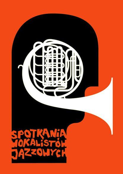 via BaubauhausPicture-Black Posters, Festivals Posters, Hubert Tereszkiewicz, French Horns, Illustration, Art Design, Graphics Design, Jazz Posters, Carteles Posters Afiches