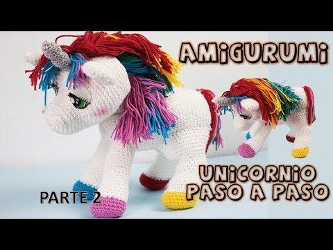 Unicornio amigurumi, paso a paso a crochet, parte 1 - YouTube