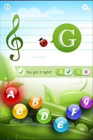 IPhone Apps designed for young children to learn piano notes through fun games.