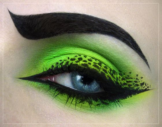 Neon Green with leapord pattern