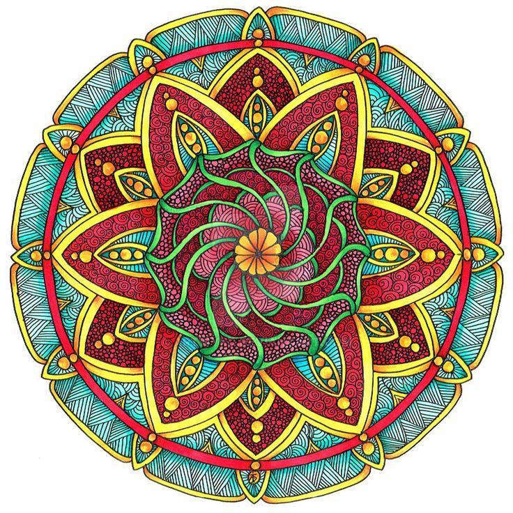 Coloured Version of Mandala 1 July 2014 by Artwyrd on DeviantArt