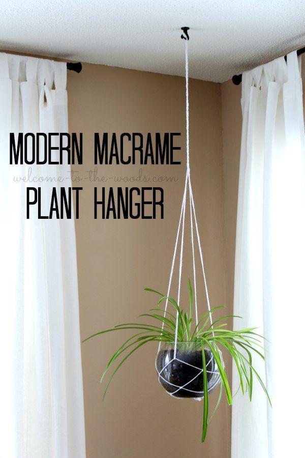 #DIYMySpring Decor: Modern Macrame Plant Hanger