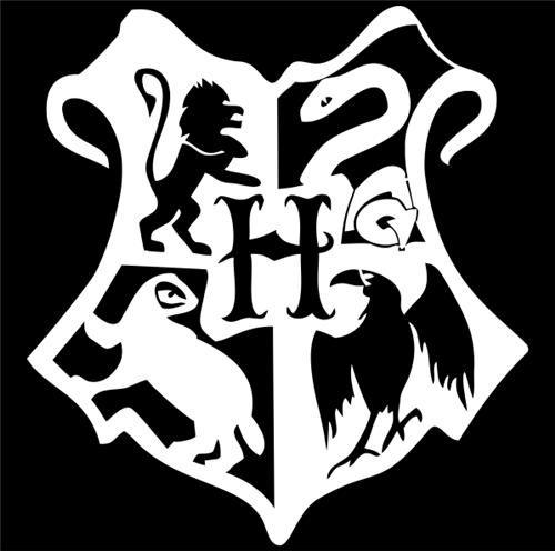 Harry Potter Hogwarts Crest Vinyl Die Cut Decal Sticker ...