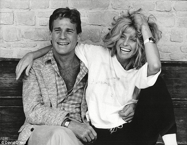 Back in the day: Ryan O'Neal Actor and Farrah Fawcett share a laugh
