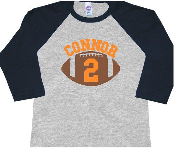 Personalized Football Birthday Shirt Raglan by FreshFrogTees
