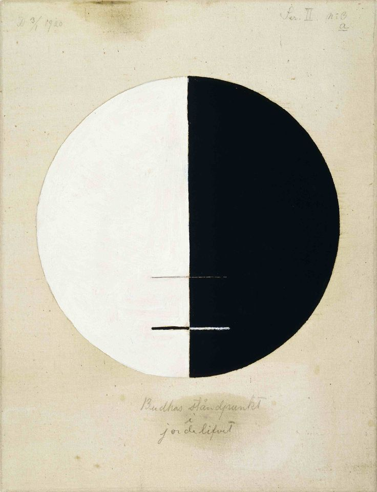 Hilma af Klint, Buddha's Standpoint in the Earthly Life, No. 3a, (1920), courtesy Hamburger Bahnhof