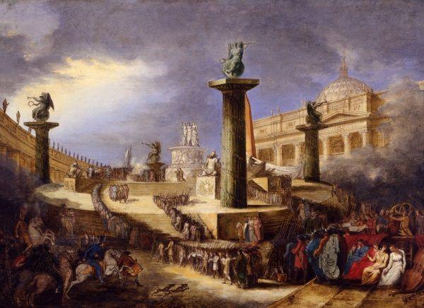 Altare patrio a piazza San Pietro per la Festa della Federazione / Feste e Cerimonie / Route by subject - Museo di Roma