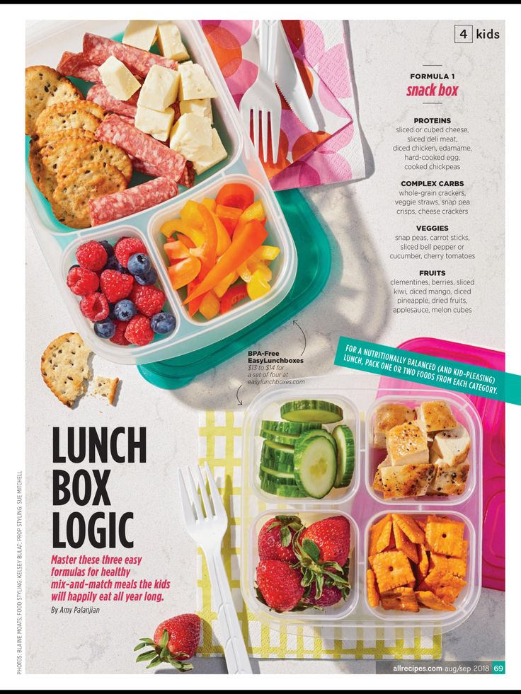 """LUNCH BOX LOGIC"" from Allrecipes, August/September 2018"