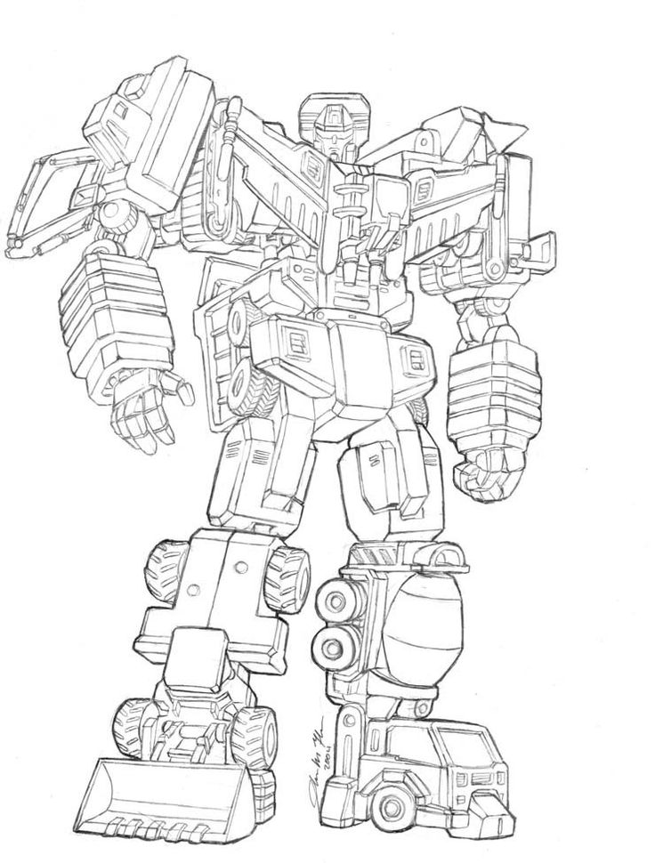 Transformer Coloring Page Transformers Devastator Pages