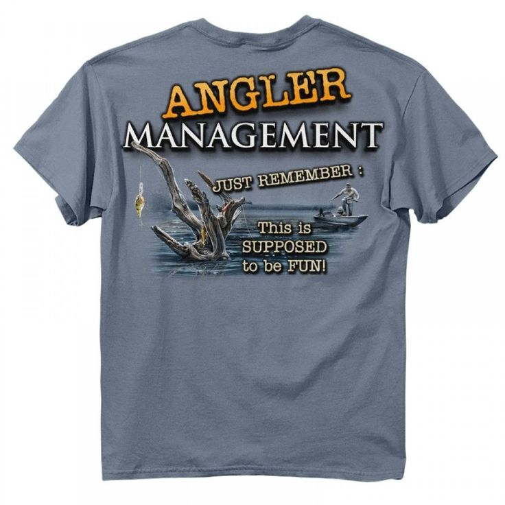 Details about new angler management fish t shirt new for Fishing t shirt