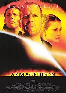 Armageddon (1998) The film follows a group of blue-collar deep-core drillers sent by NASA to stop a gigantic asteroid on a collision course with Earth .