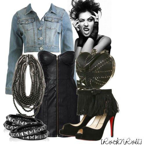 zdjęcie inspiracja glam rock chick style w pełnej rozdzielczości