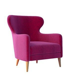 Lyndon Design Mrs. Chair - a new twist on the wing back chair.
