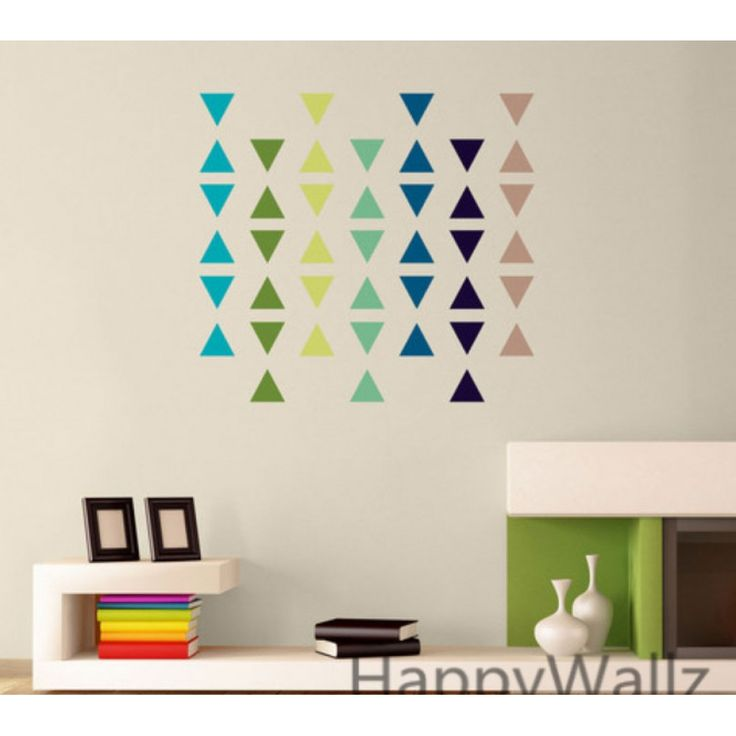 triangle pattern wall stickers lightning sticker