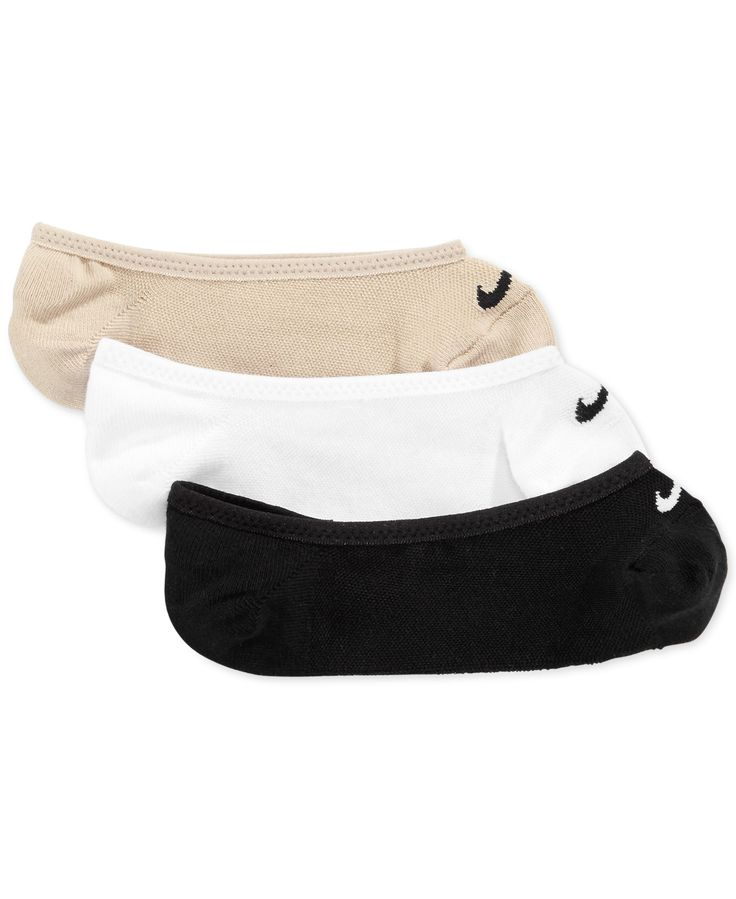Nike Women's Dri-fit Half-Cushion No-Show Socks 3-Pack