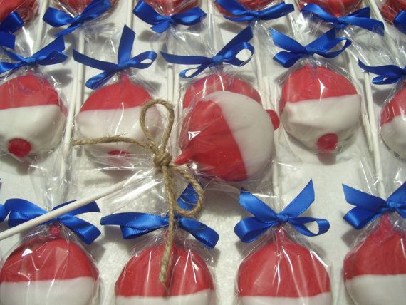RESERVED for Charlene / Fish Bobbers Chocolate covered Oreos Fishing Bobbers Wedding Favors Birthday Party Favors Great for Parties Oreo Pop