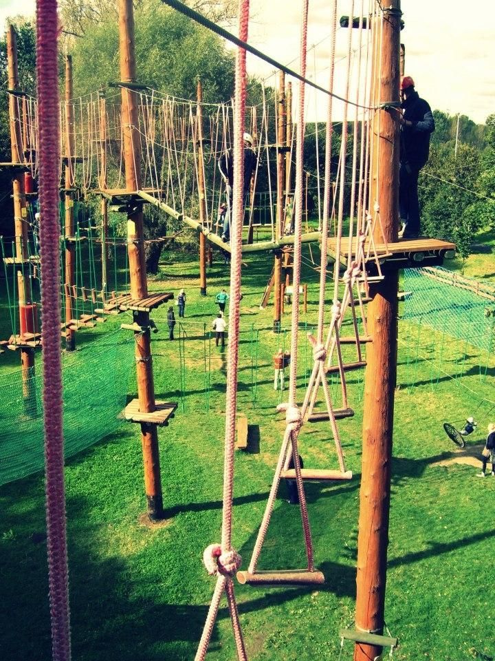 Park linowy na Bielanach