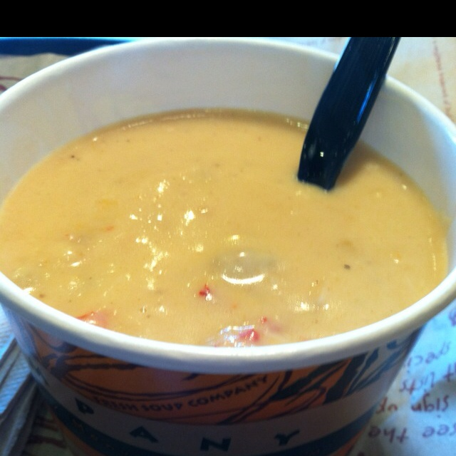 Lobster Bisque At Zoup! One Of My Favorites.