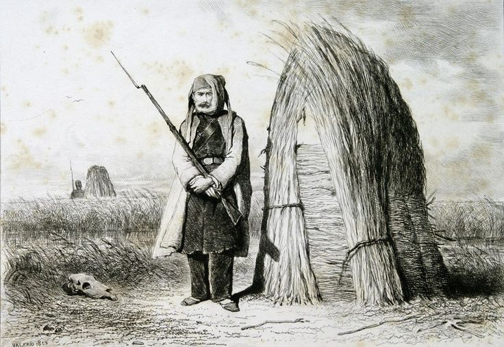 Sentinelle Egyptienne dans la Dobrustcha (1855)