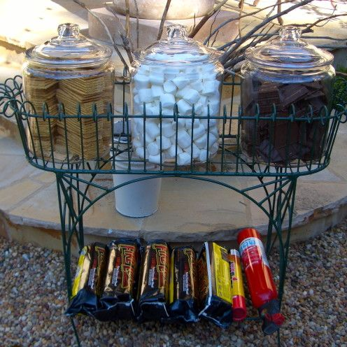HOW TO THROW A GREAT GRADUATION PARTY | S'MORES BAR |Find all the details at www.AfterOrangeCounty.com