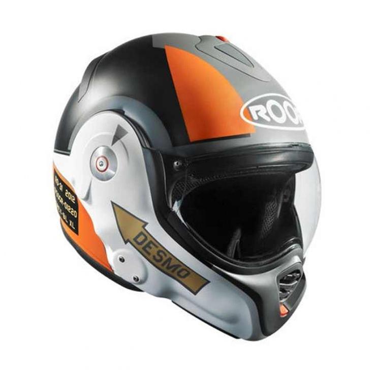 Roof Desmo Helmet Pilot Black Orange The Cafe Racer