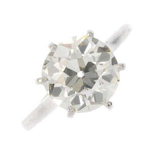 LOT:357   CARTIER - a mid 20th century diamond single-stone ring.