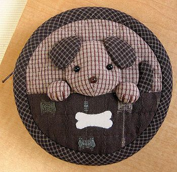 Japanese craft kits, Puppy bag purse