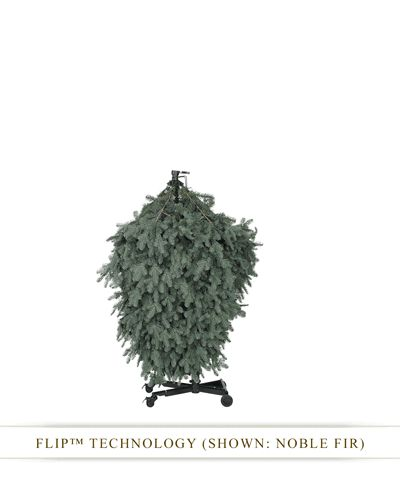 in just a simple flip you can fill your homes with exceptional beauty this holiday season with bh balsam fir christmas flip tree - Most Realistic Christmas Trees